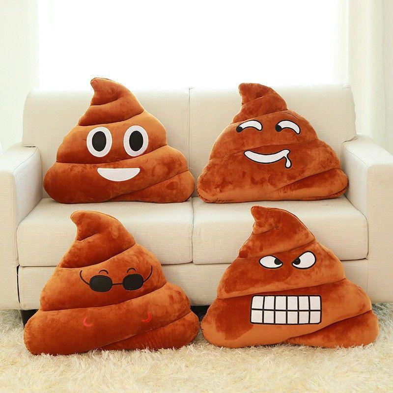 Presente almofada Emoji Pillow presente bonito Merdas Poop Bicho de Pelúcia Boneca engraçada do Natal Plush Bolster Pillows