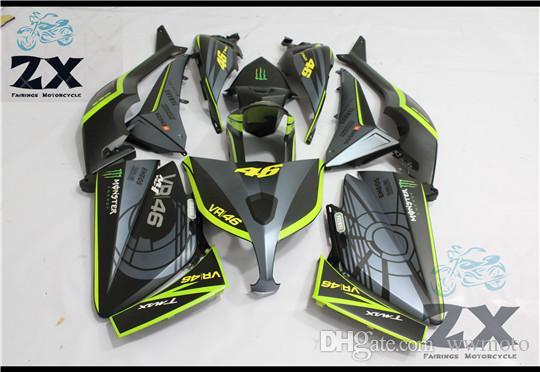 Полная обтекатели для Yamaha TMAX 530 2012 2013 2014T-Max ABS пластик Комплект Injection мотоциклов обтекателя