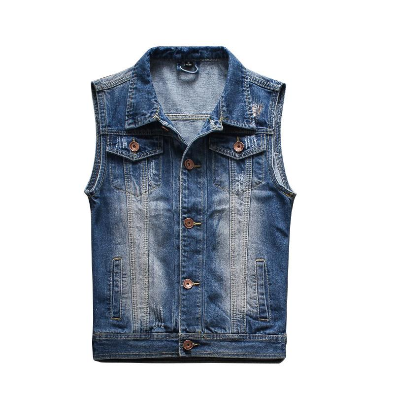 2017 2015 New Arrival Mens Sleeveless Denim Jacket Mens Denim Vest ...