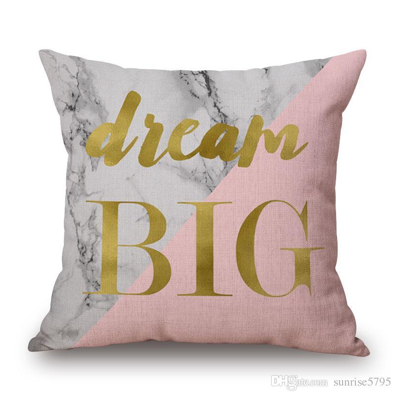 Funda de cojín de piña impresa rosa y dorada fundas cojines funda de almohada nórdica simple 2018 almofada decorativa