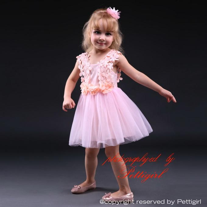 Pettigirl Cheap Baby Girls Jacquard Pink and Blue Dress With Lace Princess Girl Clothes For Kids Party Dresses GD80905-27