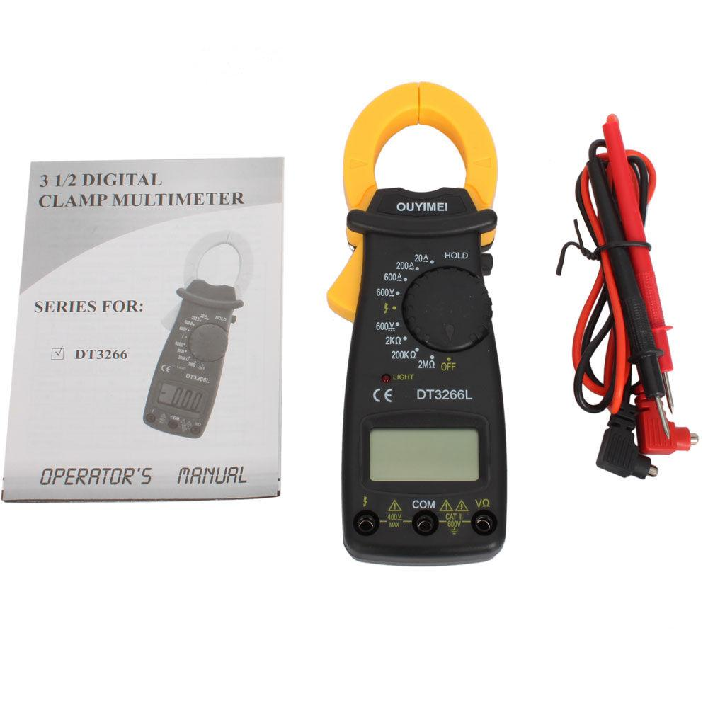 DT3266 Multimeter Digital Clamp Meter Electronic LCD AMP Tester Clip-on Table Meter With Retail Box