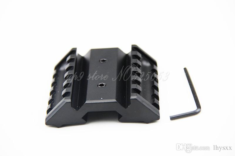Tactical 45 Degree Offset Mount Dual 20mm W/ Picatinny Rail For Sight Flashlight Laser