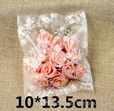 Novo DIY 400 pçs / lote pequenas rosas brancas abertas top Snack sacos / Lovely Biscoitos Pão Biscoito Saco de Presente 4 tamanhos Atacado