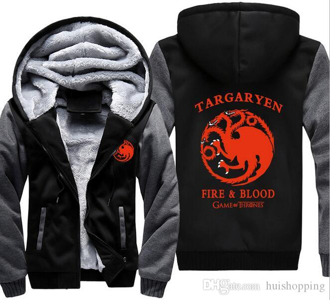 2017 game of thrones hoodie targaryen winter autumn. Black Bedroom Furniture Sets. Home Design Ideas