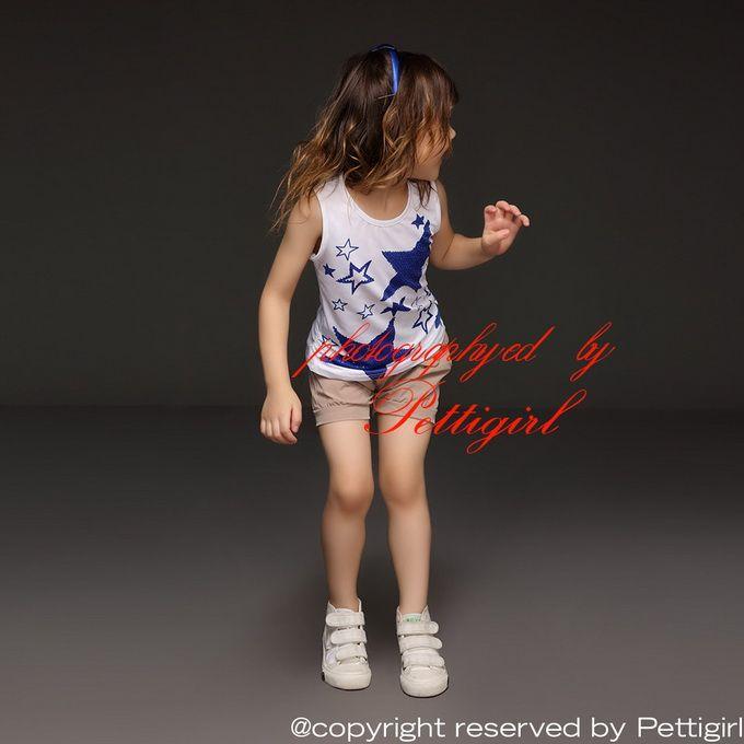 Pettigirl 2016 Abbigliamento bambini all'ingrosso Abbigliamento estivo Set senza maniche Ragazze Stelle blu Maglietta e pantaloni grigi Abbigliamento bambini CS30301-04
