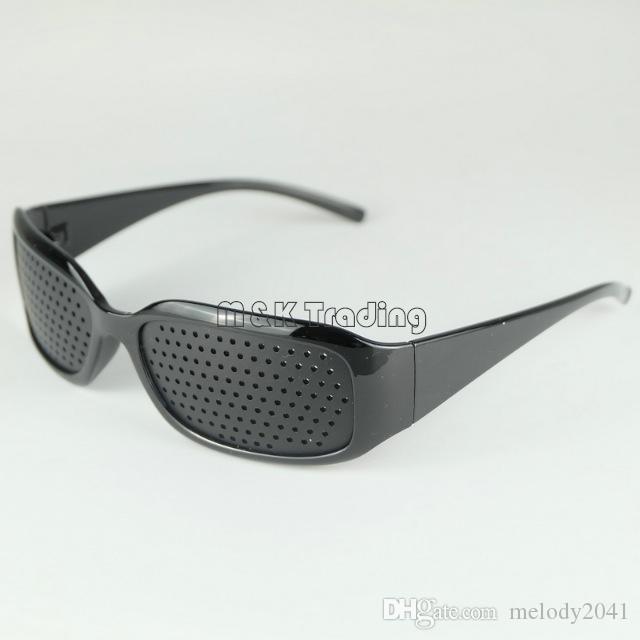 ec3f472cd72e New Pinholes Glasses Dioptric Pinhole Eyewear Vision Improve Eye Exercise  Care Black Sport Frame Free Shipment Vision Care Program Vision Care  Provider From ...