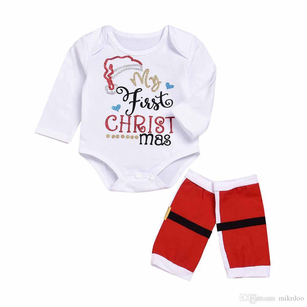 2018 Mikrdoo Newborn Baby My First Christmas Clothes Sets Infant 100 ...