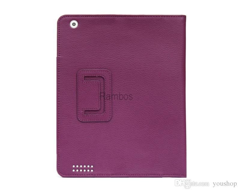 Ipad Pro Tablet için PU Deri Standı Katlanır Folio Kılıf Kapak Kılıfı ipad mini 4 için ipad 2 3 4