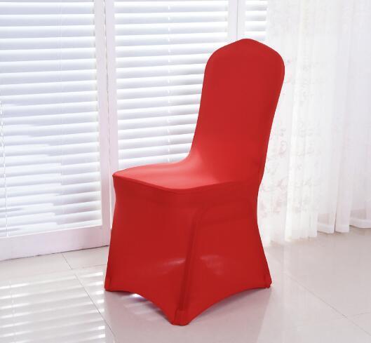 Beyaz Spandex Düğün Parti Sandalye Ziyafet için Likra Kapakları Birçok Renk Düz Esnek