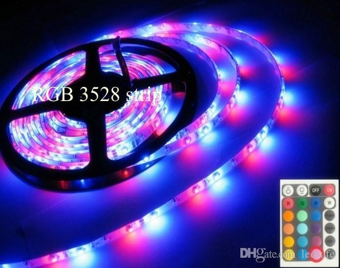 حديقة في الهواء الطلق مقاوم للماء IP65 LED قطاع الخفيفة DC 12V 3528 SMD الألوان المتعددة تغيير قطاع 300leds حبل مع الأشعة تحت الحمراء أجهزة تحكم عن بعد ومحول 2A