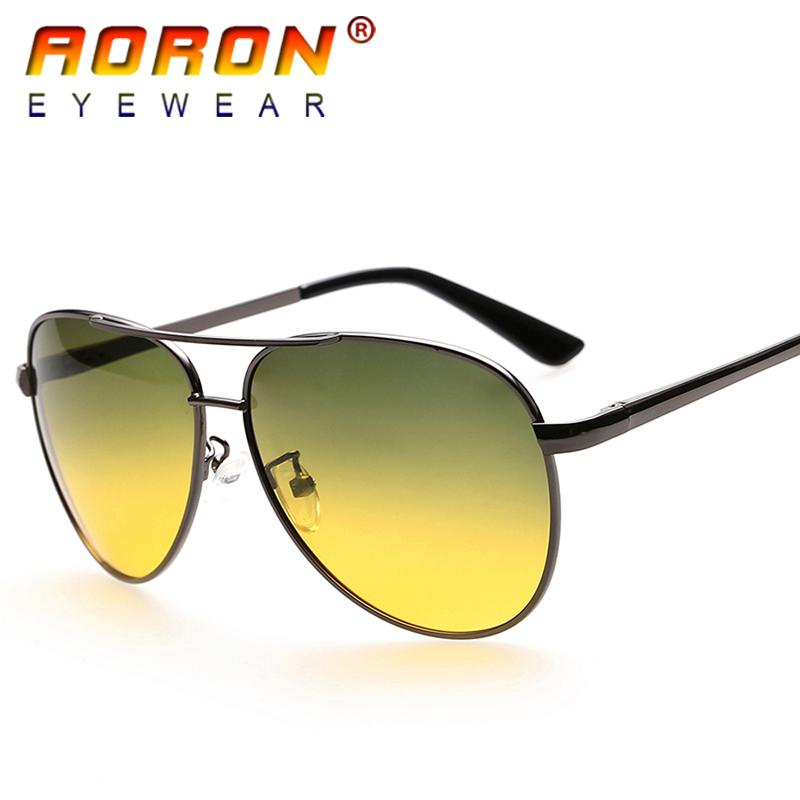 56b326eaf6f AORON Brand Day And Night Double-use Goggles Polarized Sunglasses ...
