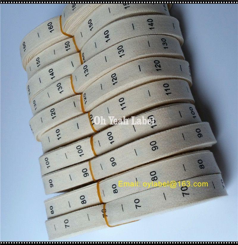 Пользовательские хлопчатобумажные этикетки этикетки бесплатная доставка 500 шт / рулон природа хлопчатобумажная напечатанная этикетка этикетки одежды