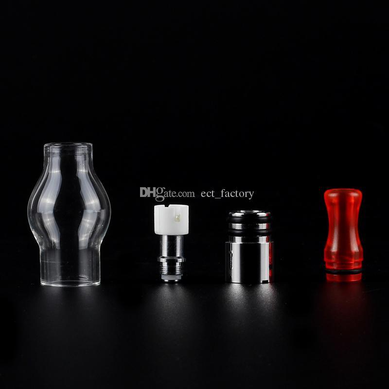 Cam Küre balmumu kubbe atomizer Elektronik Sigara Renkli damla İpucu Balmumu Yağ Buharlaştırıcı Tankı Seramik Isıtıcı Ile Büyük Buhar eGo Serisi vape