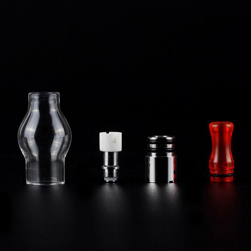 Glasglobus wachs kuppel zerstäuber Elektronische Zigarette Bunte drip spitze Wachs Öl Verdampfer Tank Mit Keramik Heizung Riesige Dampf eGo Serie vape