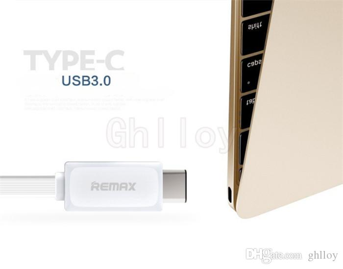 Original Remax TYPE-C USB Data Cable USB 3.1 Output 2.1A Charging & Data Transfer 1 Meter Flexible Black & Whtie Color up