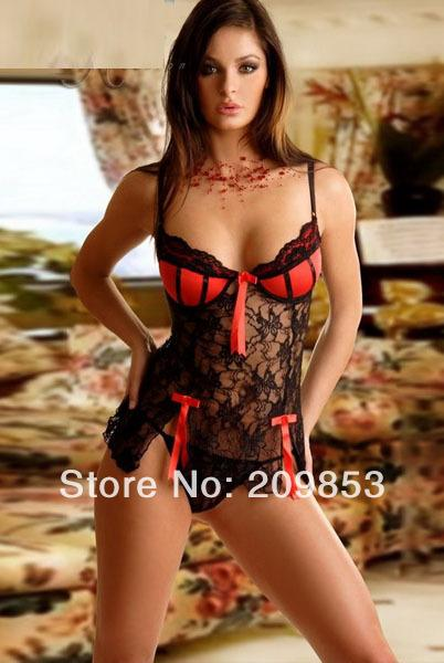 W1031 Sexy Lingerie Blackred Flower Lace Bra Dressg String New Sleepwear Costume Sexy Uniform Sexy Underwearsexy Kimono Bras For Older Women Underwear