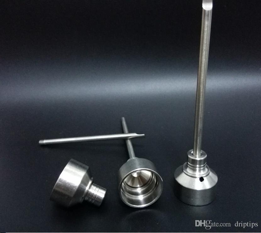 공장 가격 GR2 티타늄 네일 18mm 탄수화물 캡 VS 유리 용 도자기 모자 봉 형 연기가 나는 물 관 DHL