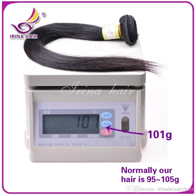 En kaliteli% 100% İnsan Saç Dokuma Atkı Işlenmemiş Ucuz Brezilyalı Perulu Malezya Hint Düz Saç Uzantıları 3 demetleri