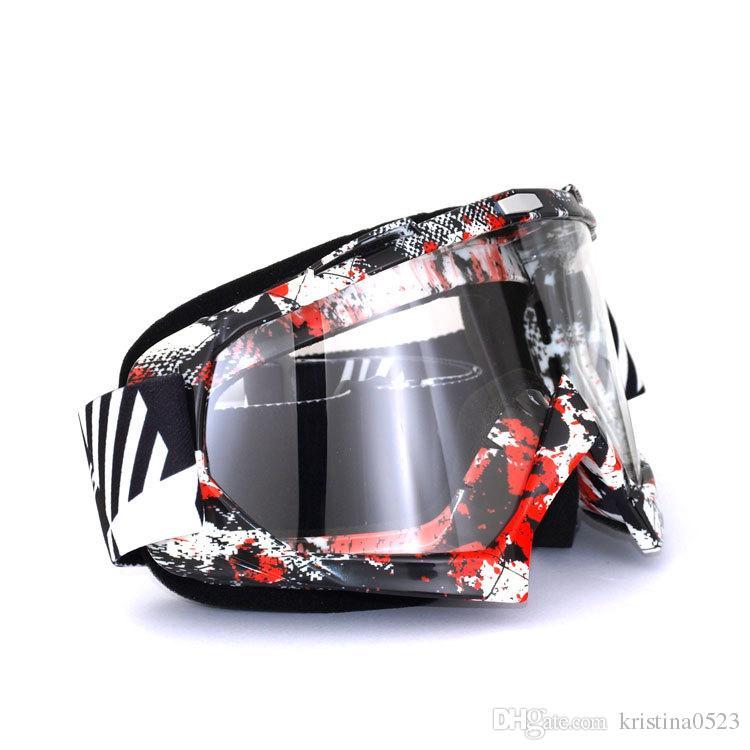 New High quality Graffiti Frame Motocross Goggles Oculos Motocross Motorcycle Dirt Bike ATV MX Off-Road Helmets Goggles gafas