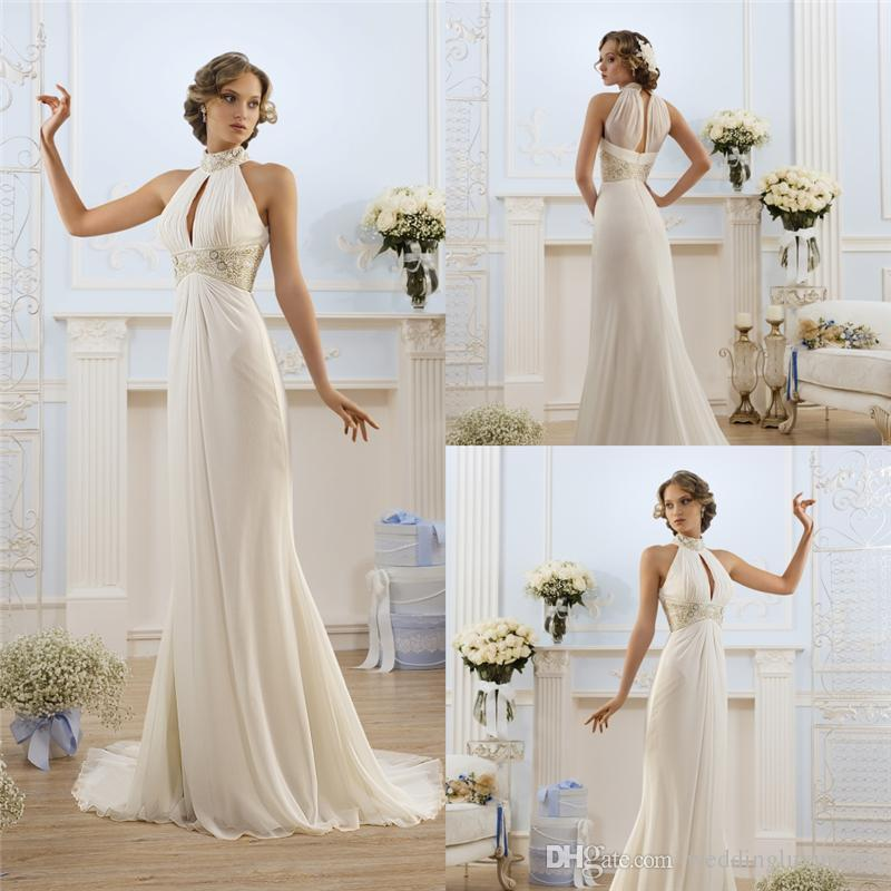 Discount New Arrival Wedding Dresses 2016 High Neck See Through Back ...