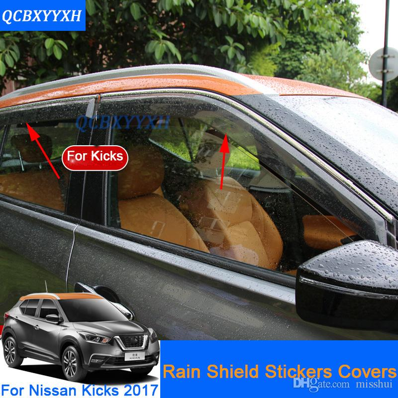 QCBXYYXH 자동차 스타일링 태양 바이저 ABS 차양 보호소 닛산 차기에 대 한 / 윈도우 바이저 2017 썬 레인 쉴드 스티커 커버