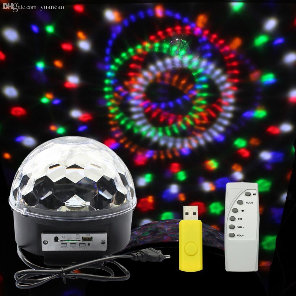 Marvelous Wholesale Goeswell Music Crystal Magic Ball Rgb 6w*3 Led Stage Light Disco  Nightclub Party Strobe Lights Dj Lighting With Remote Led Lights Disco Led  Disco ... Good Ideas