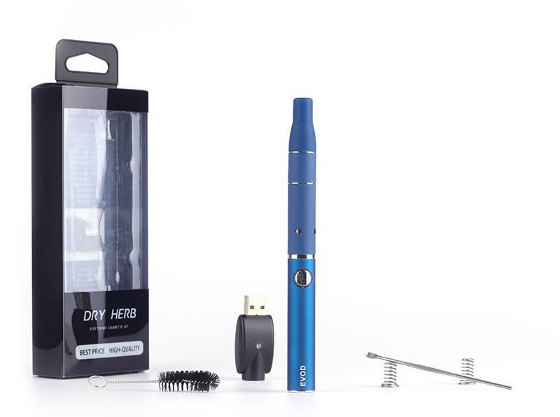 Cigarro eletrônico Evod atrás g5 blister starter kit e cigarro ego evod bateria e cig erva seca atomizador cera g5 vaporizador caneta vapor