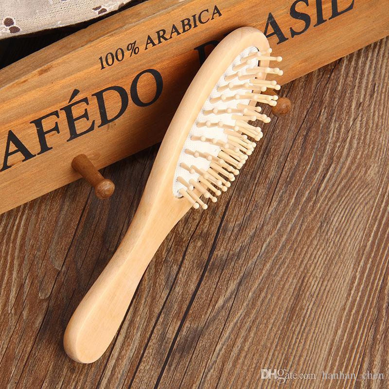 2018 تعزيز هرع الخشب فرشاة dhl الشحن المرأة تدليك الشعر الرعاية الصلبة مشط خشبي الاستاتيكيه أسلوب سبا دش فرش 22.5 * 6 سنتيمتر h61