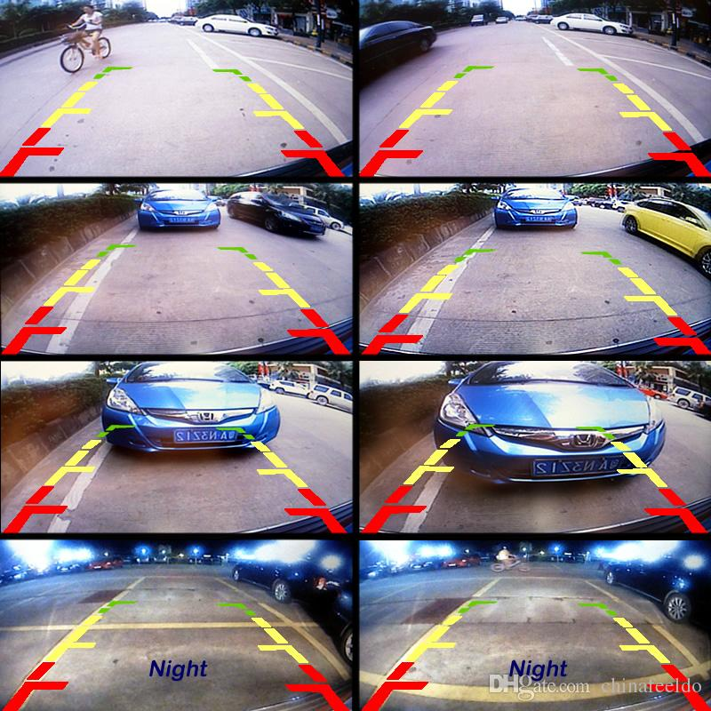 LEEWA 12V Auto Car Rear View Camera With LED Lights For Vehicle Reverse System Parking Camera #4788