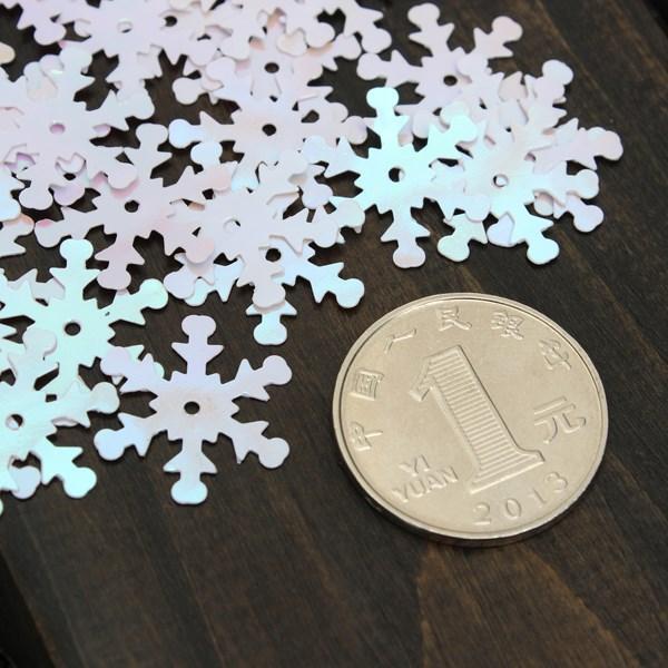 50 pçs / lote Lantejoulas Floco De Neve Confetti Natal Floco De Neve para Artesanato Congelado Visão de Cor