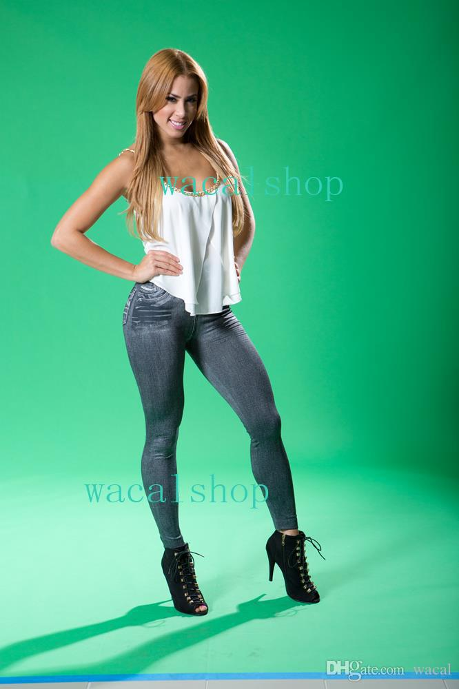 2019 Online Wholesale Cheap Clothing Women Leggings 01 Leg Pants Tights Black Blue -3899