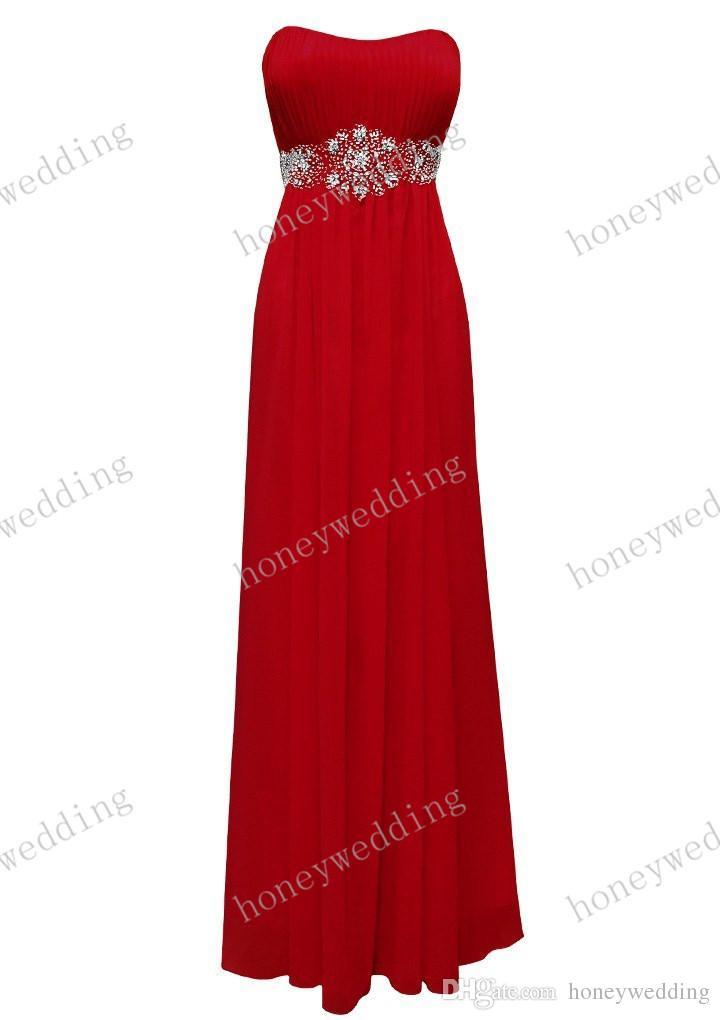 Bridesmaid Dresses Cheap Beads Sash Chiffon Bridesmaids Dresses Royal Blue Coral Purple Wedding Fromal Dresses