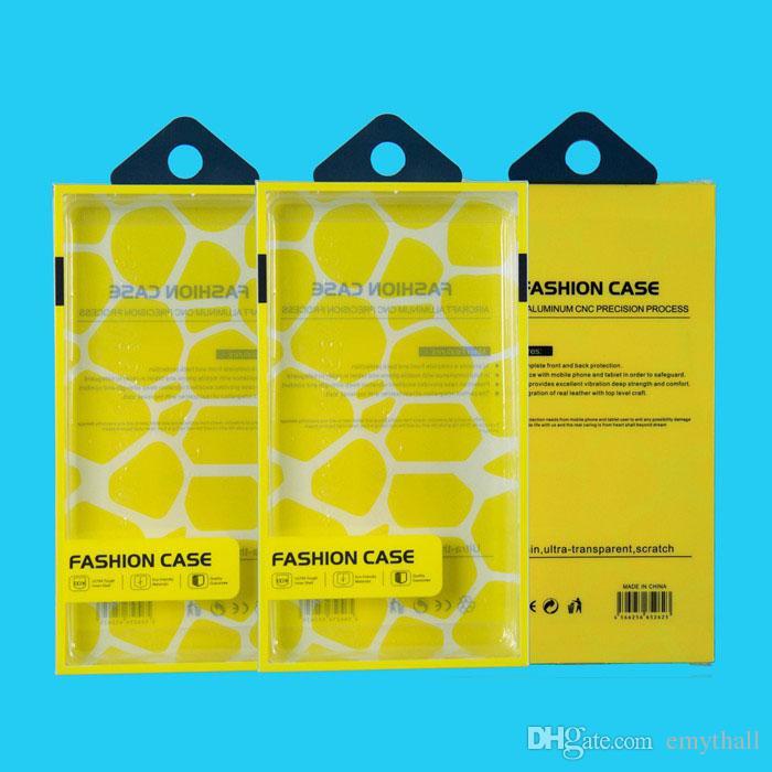 Caja universal de la caja del teléfono móvil Caja de empaquetado al por menor plástica del PVC con la inserción interna para la caja del teléfono celular de Samsung Samsung HTC Fit 5.7 pulgadas