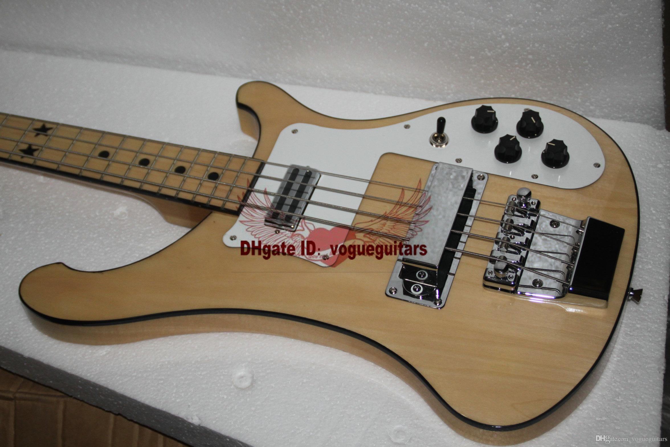 Пользовательские бас-гитара 4003 бас 4 строки электрический бас звезды накладка в природных OEM бас-гитара Бесплатная доставка A124