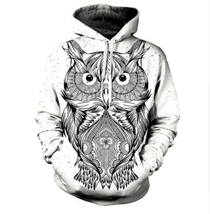 70993c5151c7 2019 2017 Autumn Winter Men Women New Fashion 3D Hoodies Animal Owl  Printing Casual Hoody Funny Sweatshirt XK119 From Happy668899store