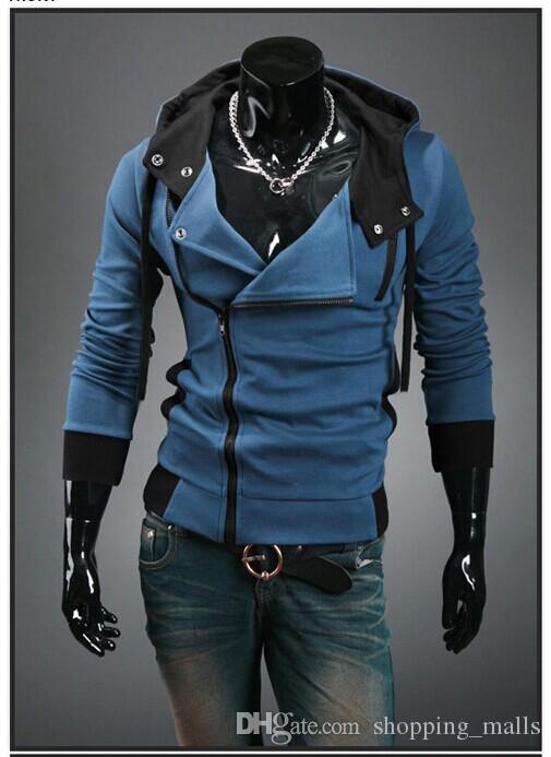 Man Fashion Coat Mens Jackets Men'S Slim Jeans Blue Cloth Korean ...