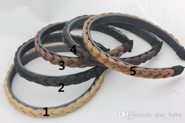2015 New Synthetic Fashion Hair Band For Woman Plaited Headbands Braided Hair Accessories K5636