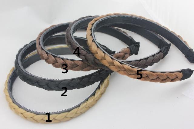/ nouveau bandes de cheveux de mode synthétique pour femme plaitée bandeau tressé accessoires de cheveux tressés Livraison gratuite K5636
