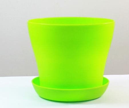 """High Quality 5"""" Mini Plastic Flower Seedlings Nursery Pot Planter Flower Pot with Pallet Great For Garden D497E"""