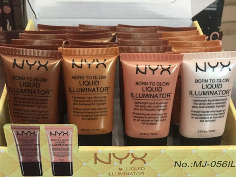 NYX Liquid Foundation Корректор для лица Косметика для лица Born To Glow Жидкий осветитель BB-крем для макияжа Пудра Косметика для ухода за кожей 18 мл