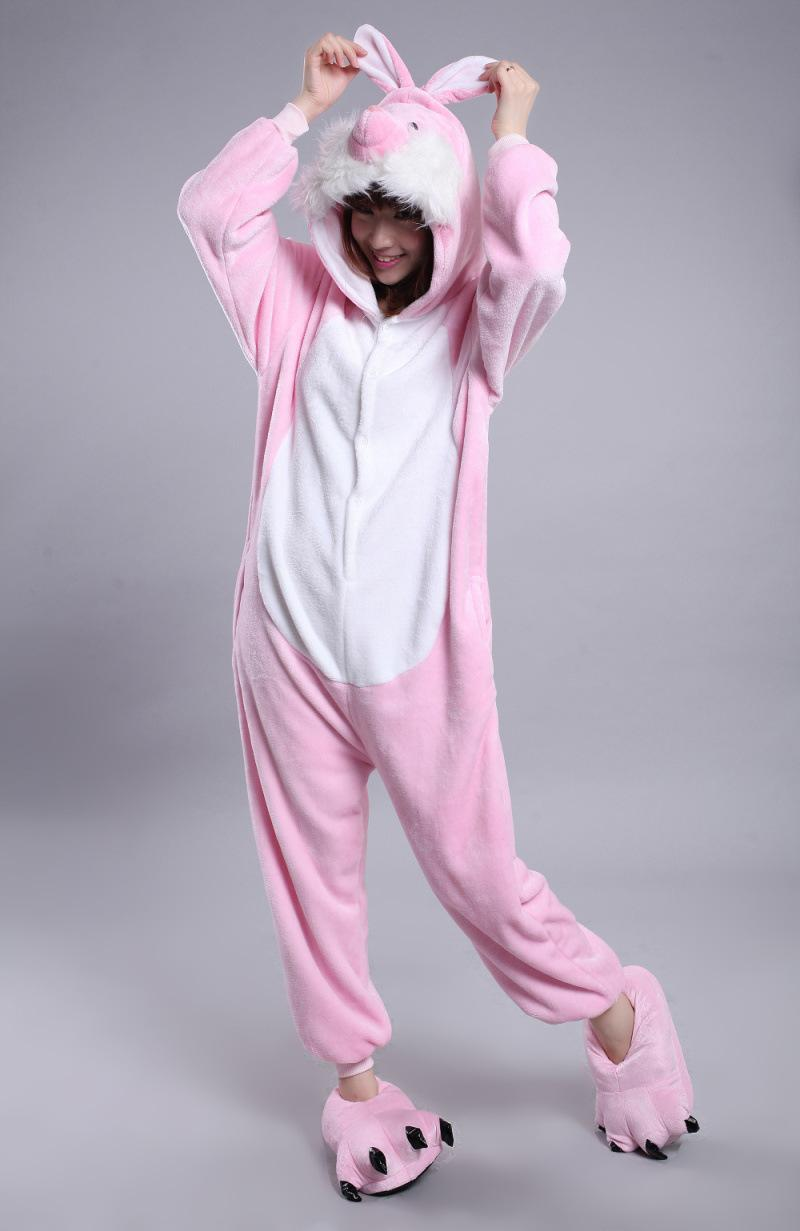 fcf7302481e6 Zodiac Adults Rabbit Bunny Onesie Anime Cosplay Costumes Unisex Women Men  Pajamas Rabbit Bunny Anime Cosplay Costumes Pajamas Online with   30.99 Piece on ...