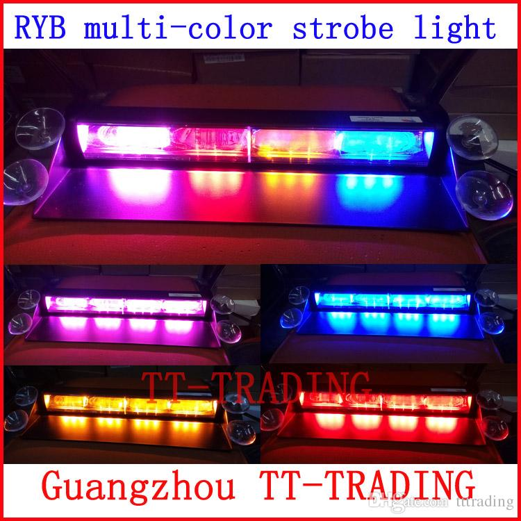 ryb 12 led police strobe lights vehicle strobe light car dash board emergency warning lights. Black Bedroom Furniture Sets. Home Design Ideas