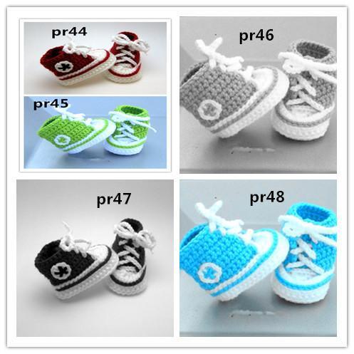2015 Moda bebé Crochet chivato Crochet bebé botines Moda suave infantil primer punto walker zapatos niño sandalia adaptarse a una edad del bebé 0-12 meses