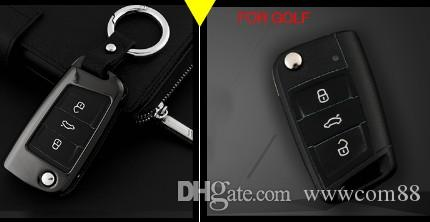Car Key Cover Shell For Vw Golf 7 Mk7 Skoda Octavia A7 Seat Leon
