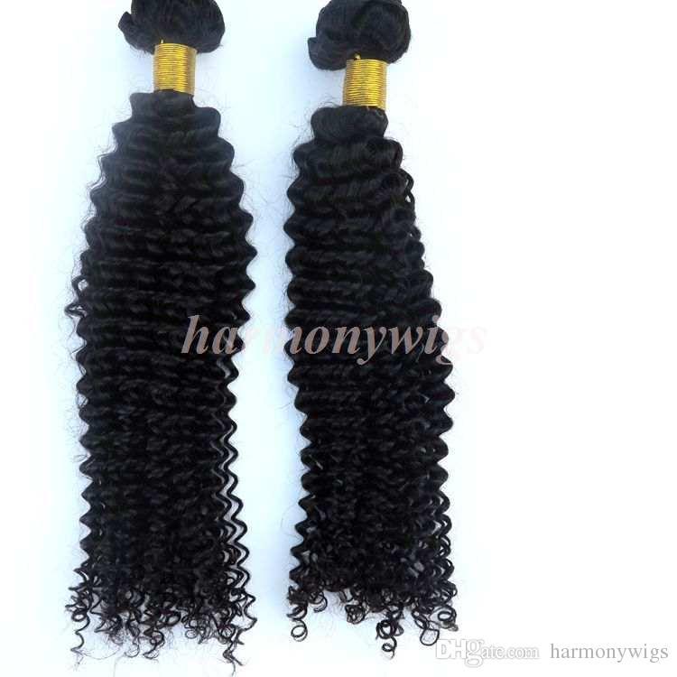 Extensiones de cabello virgen de visón Paquetes de cabello brasileño Rizado rizado Tramas Sin procesar Peruano Indio Malayo Mongol Tejidos para el cabello Mayoristas