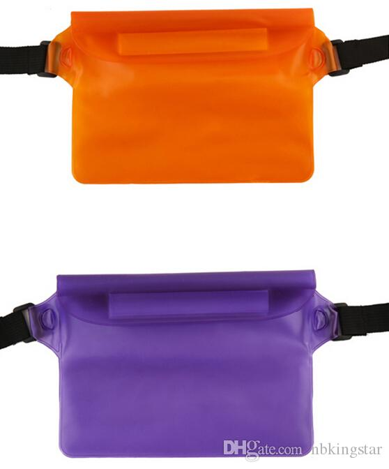 22*16cm PVC waterproof swimming waist pack bag underwater dry pocket cover for cell phone