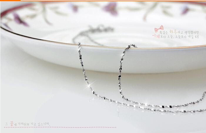 925 sterling silver chain necklace Hypoallergenic necklace chain short Clavicle chain 18inch necklace full star chain necklace free ship