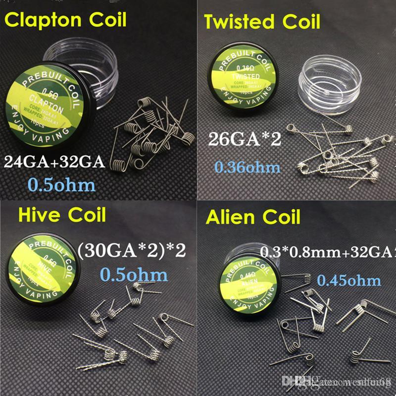 Prebuilt coils flat twisted wire fused clapton coils hive coil alien prebuilt coils flat twisted wire fused clapton coils hive coil alien mix twisted quad tiger wire coils heating resistance box for ecig vaping wire gauge keyboard keysfo Images