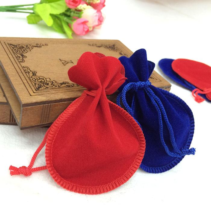 Velvet Jewelry pouches ring earrings pendant charm packing Bag Bundle gift Bags Size 7.5*9.5cm